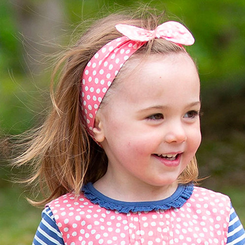Kite Headband Pink Dotty