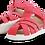 Thumbnail: Bobux Step-Up Tropicana closed toe sandal Watermelon
