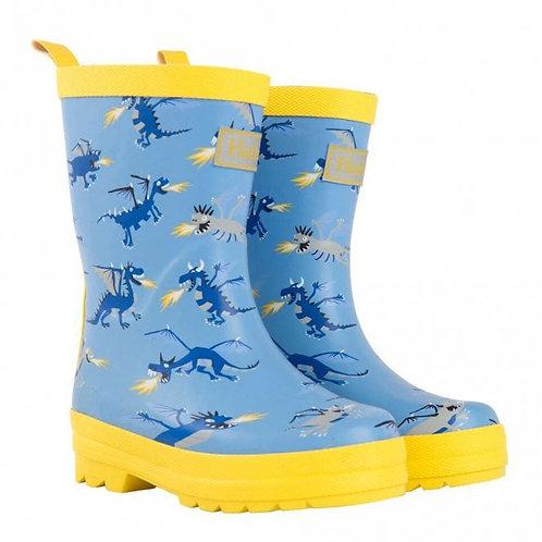 Hatley Fire Breathing Dragons Rain Boots
