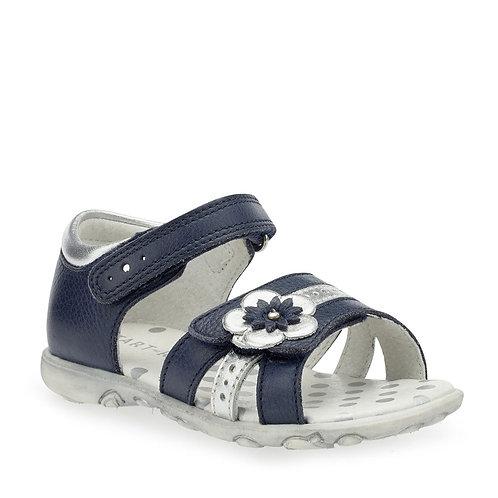 Start-Rite Phoebe Navy Blue Leather Rip Tape Sandal