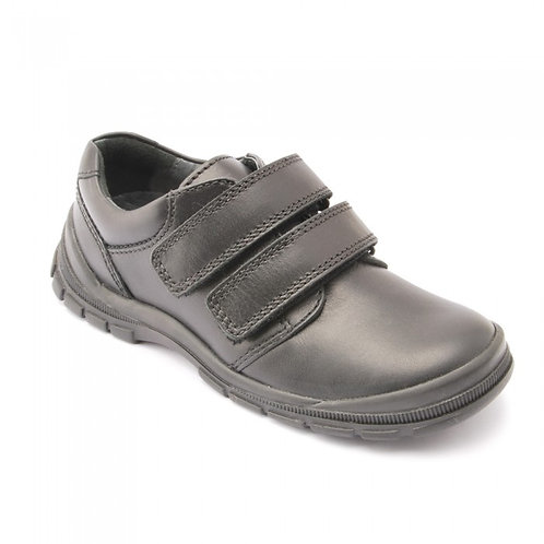 Start rite Engineer Black Rip Tape Bumper Toe School Shoes