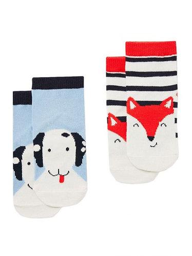 Joules Fox/Dog baby Socks