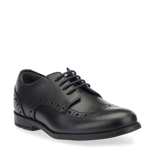 Start-rite Brogue SNR Black Leather Lace Up School Occasion Shoe