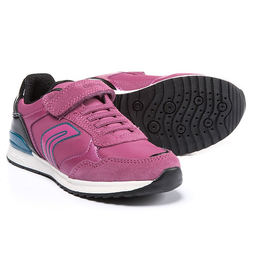 Geox Maisie Fuchsia Navy Sports Trainer