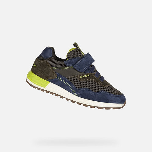 Geox Alben Miltary/Lime trainer
