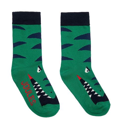 Joules Green Dino Socks