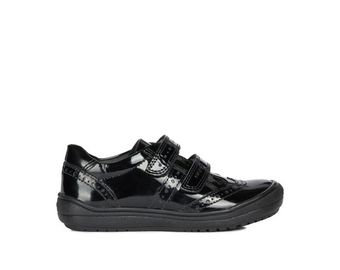 Geox Hadriel Black Patent School shoe
