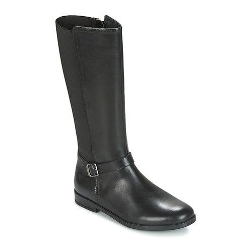 Start-rite Grace Black Leather Long Boot