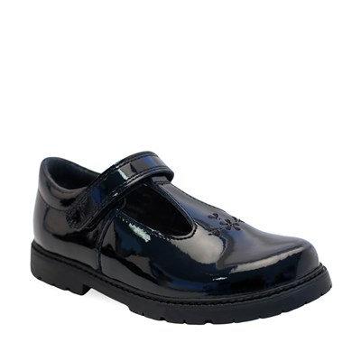 Startrite Liberty black patent school shoe
