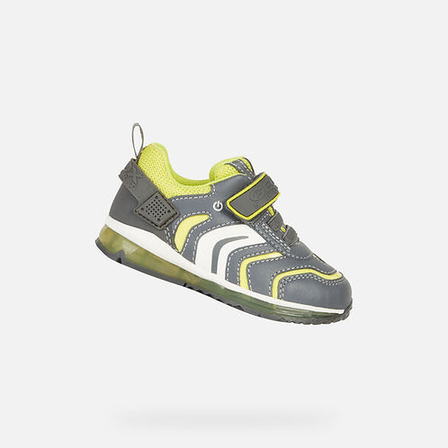 Geox Todo Grey/Lime light up Sneakers