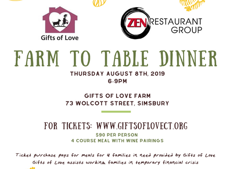 Farm to Table Dinner at Gifts of Love Farm