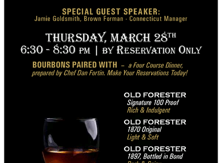 Old Forester Bourbon Dinner!