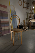 Detail of 'Phantom Limbs', with a reproduction of Michael Thonet's bentwood chair #14 (1859).