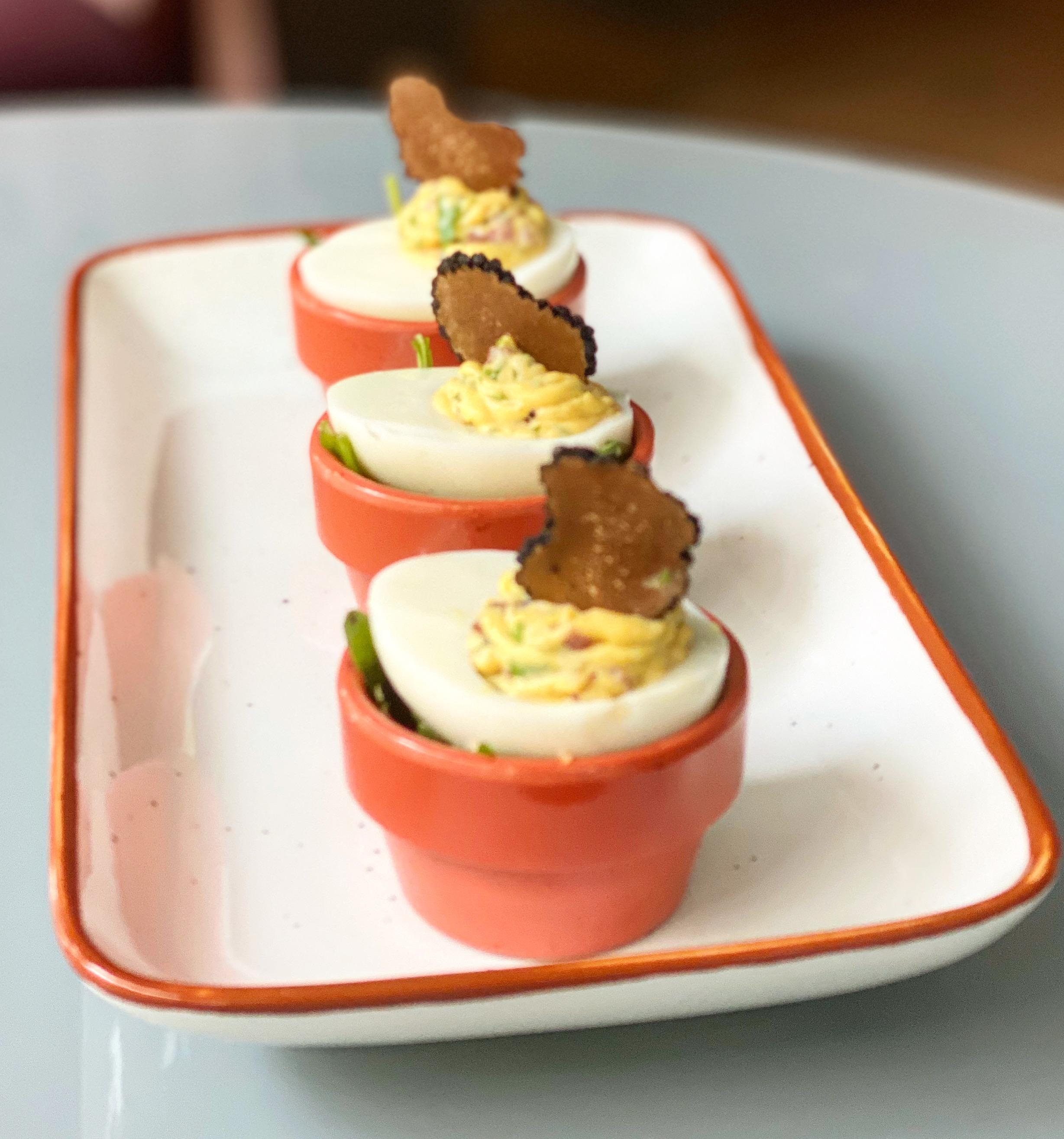 Truffle Mimosa eggs