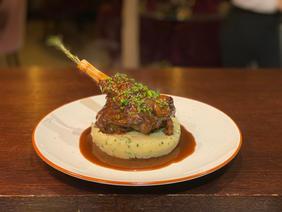 Lamb shank tribute to Chef Paul Bocuse