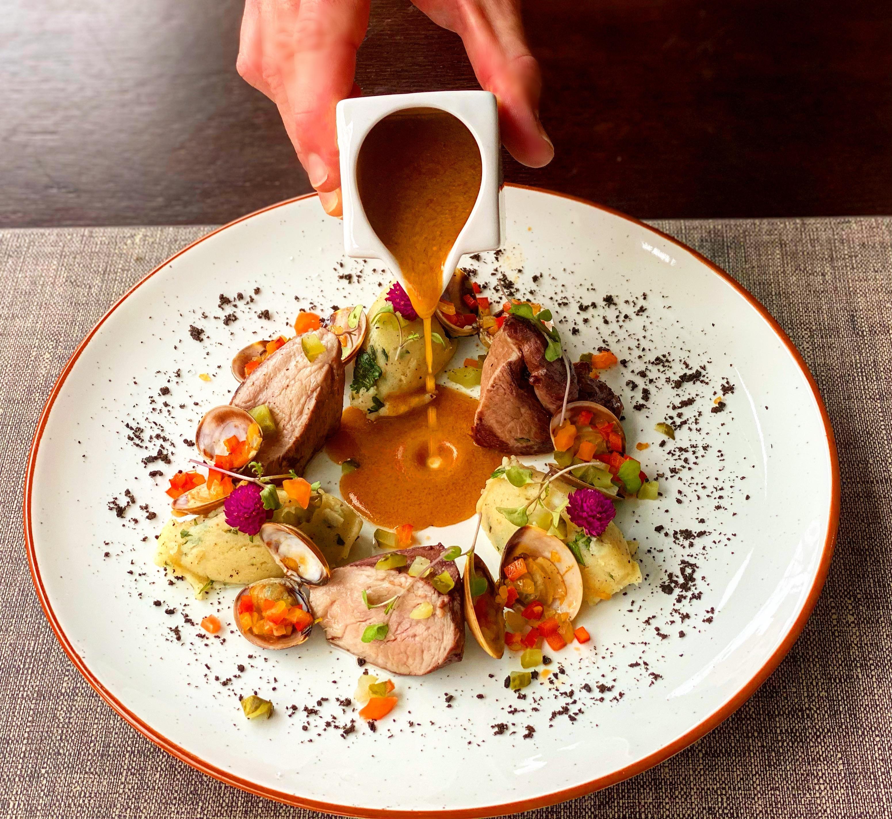 Filet Mignon of pork Alentejo style
