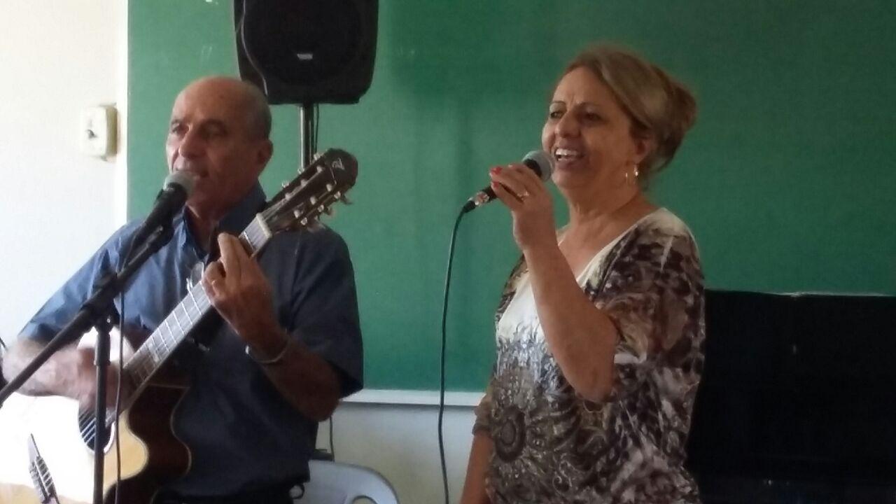 Sérgio Santos e a esposa Marlene