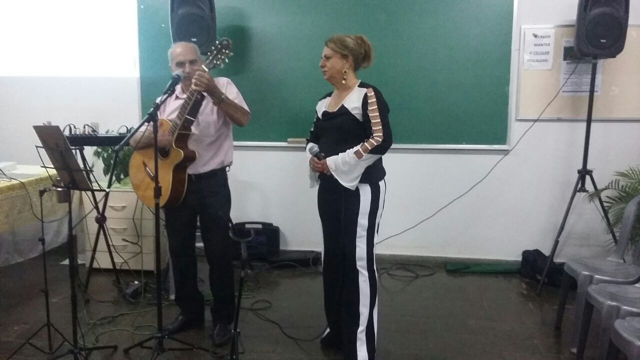 Sérgio Santos e esposa Marlene
