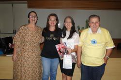 Vânia, Andrea, Dra. Gabriela e Hélio