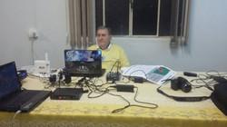 Hélio Dias na transmissão