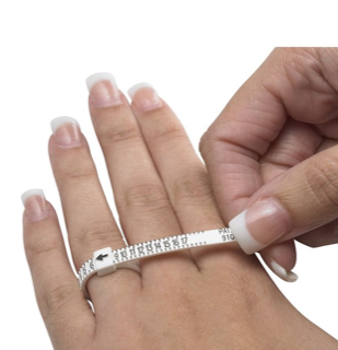 "Ring Sizer Only $1.00 Plus Shipping or go to ""Find your ring size"" section above"