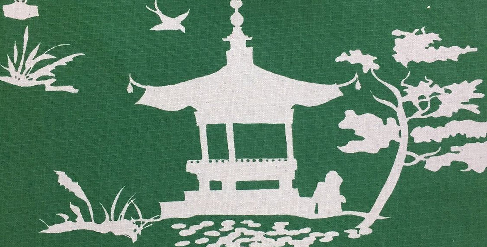 Emerald Chinoiserie - Asian Fabric
