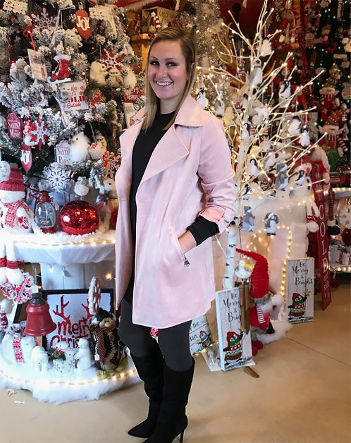 Suede Jacket - Pink