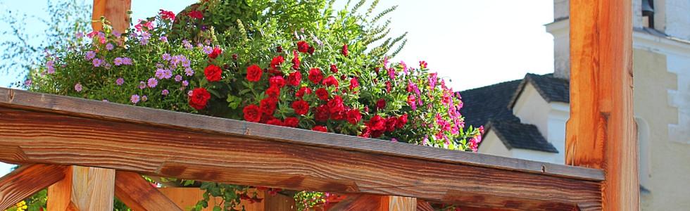 Terasse Blumen Hof Neuhaus