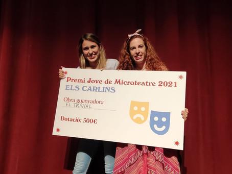 'El Trívial' guanyadores del Premi Jove de Microteatre d'Els Carlins!