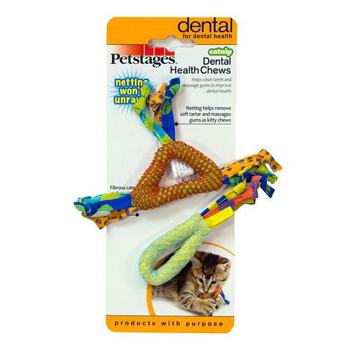 Petstages Dental Health Chews Cat Toys with Catnip