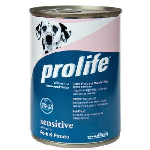 Prolife 狗罐頭 - 低敏豬肉薯仔 400g