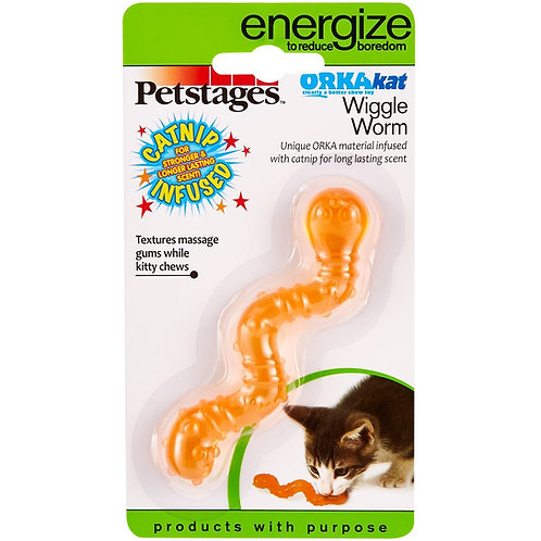 Petstages Wiggle Worm Catnip Infused Cat Toy