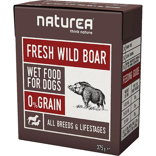 Naturea無穀物鮮肉狗濕糧-野豬肉 375g