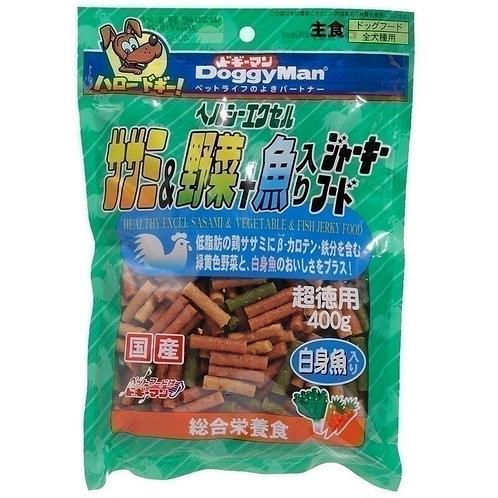 DoggyMan 雞肉野菜白身魚肉條 400g
