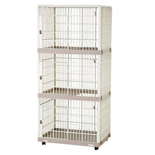 IRIS 可移動式三層樹脂寵物籠 (S/L)