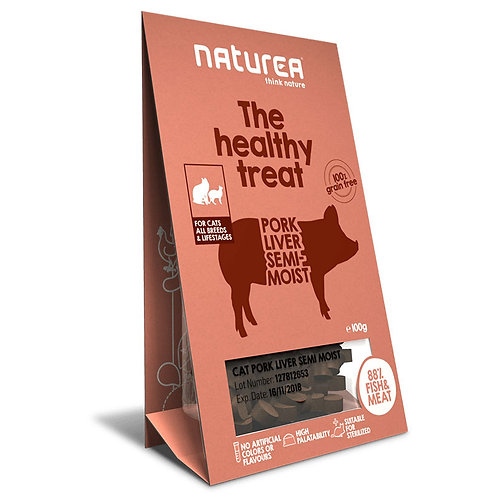 Naturea 鮮肉半濕小食 (貓用) – 豬肝 100g