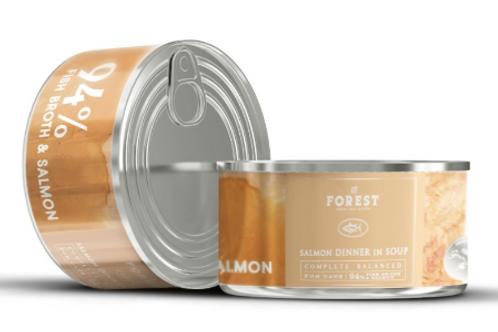 Forest 升級 貓系列罐頭 (主食湯罐) 三文魚,魚湯 94% / 吞拿魚,三文魚 93% /  吞拿魚+魚湯 93% /  雞肉+芝士 93%  /雞肉,