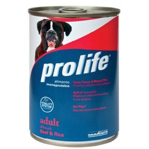 Prolife 狗罐頭 - 成犬牛肉飯 400g