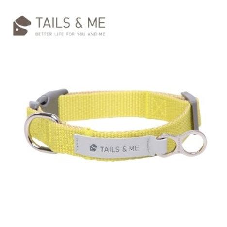 Tails & Me 經典尼龍系列 狗頸圈 檸黃卡其