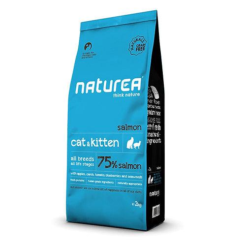 Naturea Naturals 全天然鮮肉糧-全貓三文魚配方 (2KG/7KG)