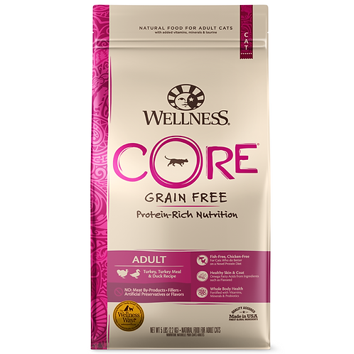 Wellness Core無穀物貓糧-火雞鴨肉配方(5LB/11LB)