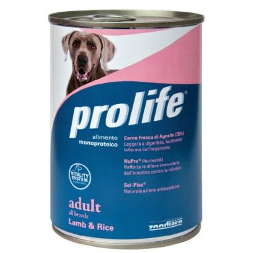 Prolife 狗罐頭 - 成犬羊肉米 400g