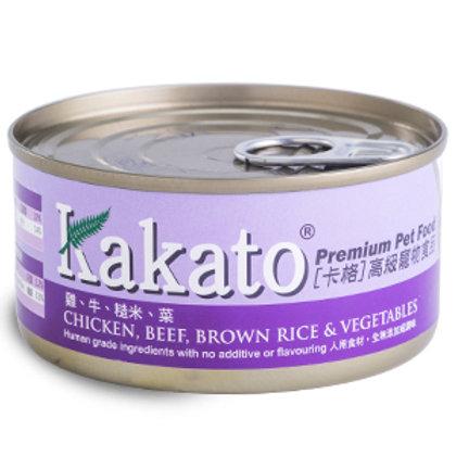 KAKATO 雞牛糙米菜 170G
