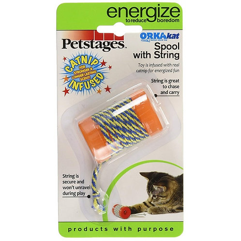 Petstages Cat Toy - Spool with String