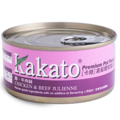KAKATO 雞牛肉絲 170G