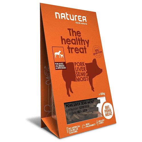 Naturea 鮮肉半濕小食 (犬用) - 豬肝 100g