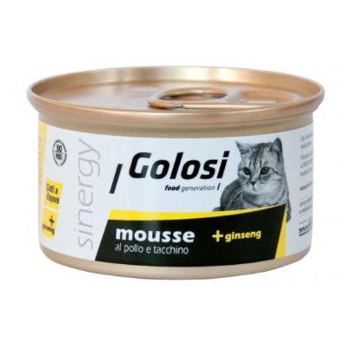 Golosi 人蔘系列貓罐頭 - 雞火雞肉慕絲 85g
