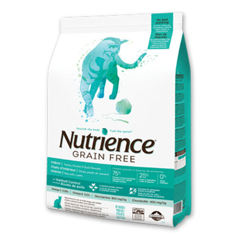 Nutrience無穀物- 火雞雞肉鴨肉室內全貓配方 2.5KG