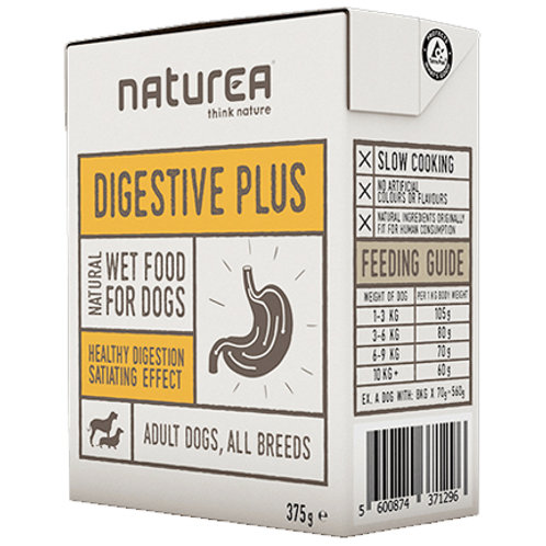 Naturea無穀物單一蛋白狗濕糧-腸胃配方(雞肉,馬鈴薯) 375g