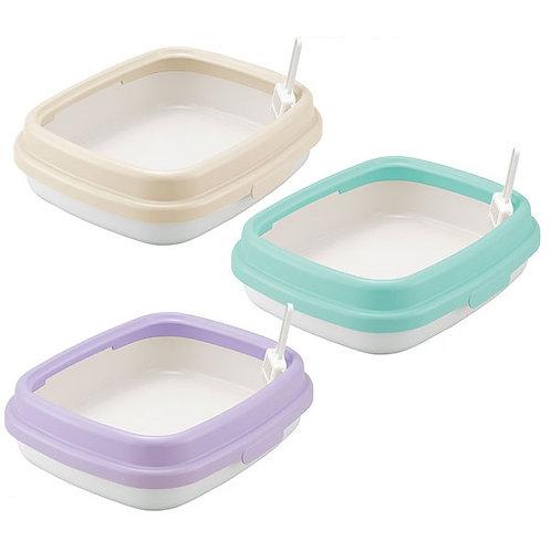 Richell簡易貓廁所(粉紫色/米色/青藍色)